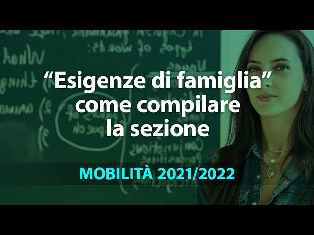 Mobilità 2021/22: come compilare la sezione