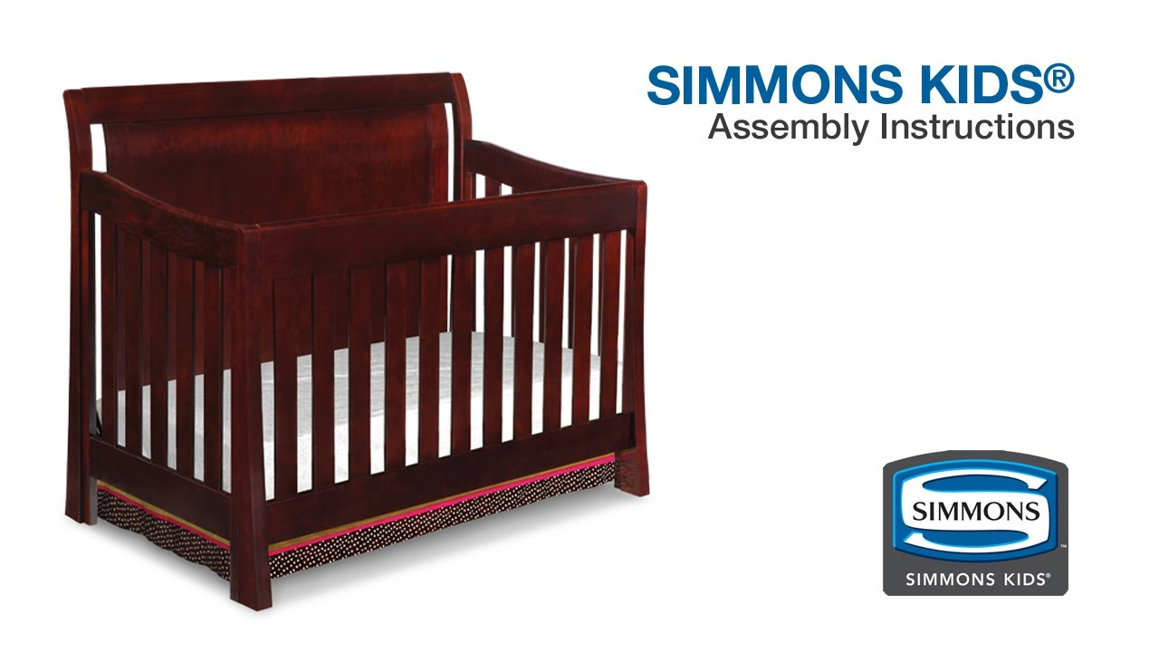 Jardine crib for sale - Baby Bed Instructions Simmons Kids Madisson Crib N More Assembly Video