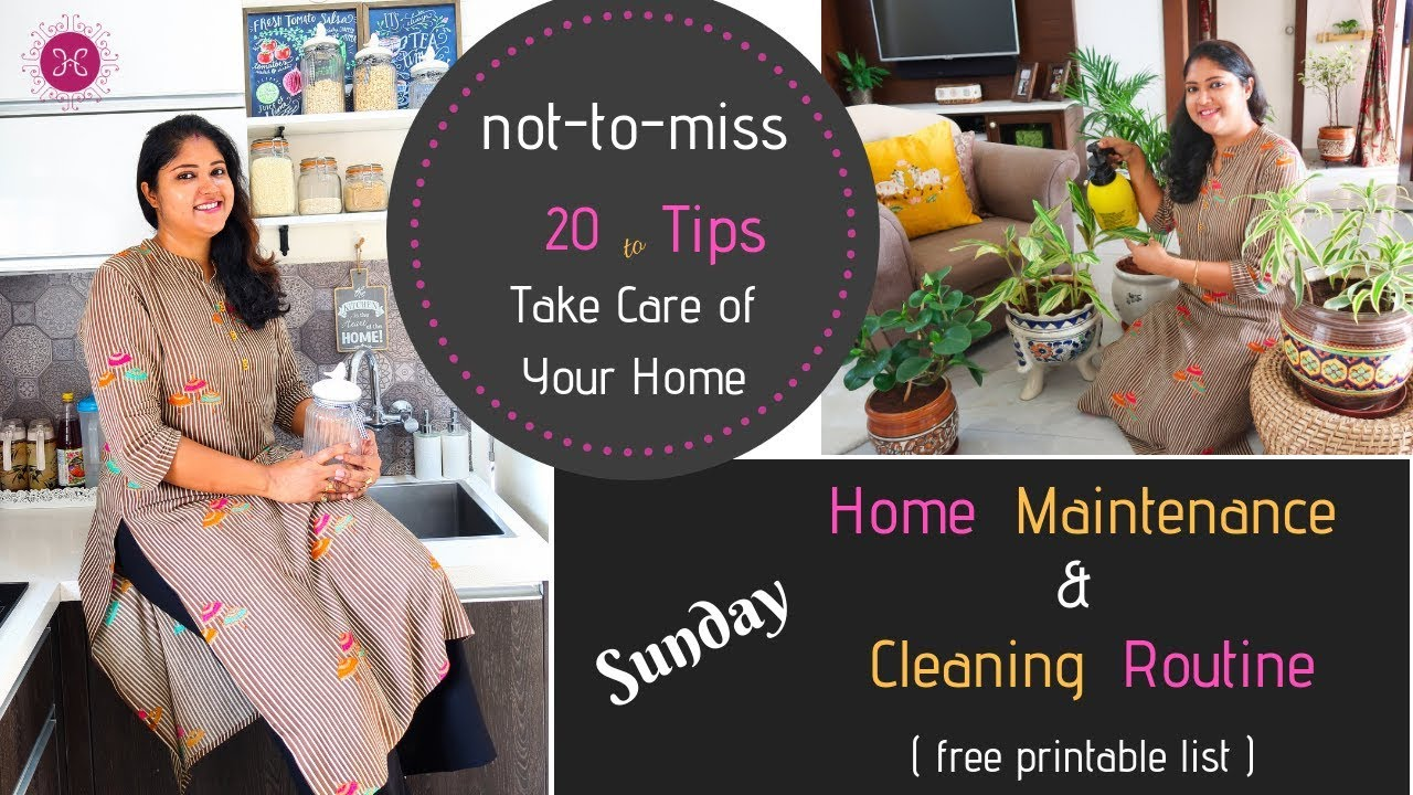 Sunday Home Maintenance / Cleaning Routines