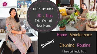 Sunday Home Maintenance / Cleaning Routines | Home Cleaning Tips