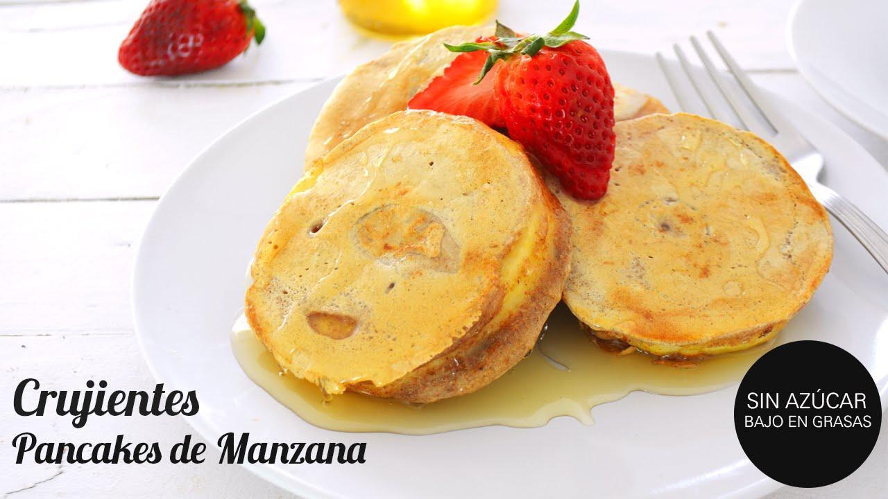 Desayuno Saludable Pancakes De Manzana Crujientes Sin