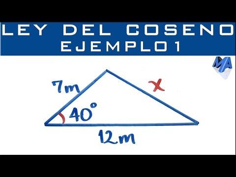 Ley Del Coseno | Ejemplo 1 | Encontrar Un Lado