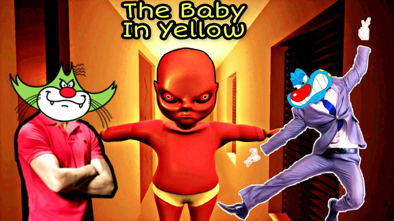 Scary Baby- The Baby In Yellow game with Oggy and Jack Voice