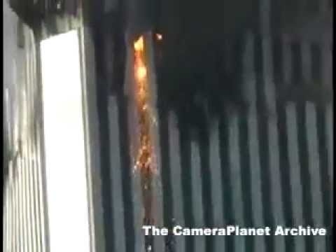 Shot From Street Level Of South Tower Collapsing