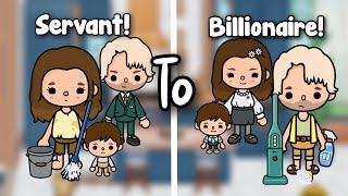 SERVANT TO BILLIONAIRE 💵💰 | A sad story | Toca shine ✨