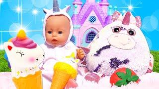 Смешные игры одевалки - Принцессы ДИСНЕЯ и Милые ЕДИНОРОГИ! – Новые видео для девочек.