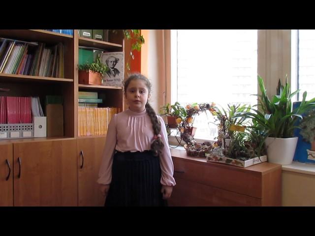 Изображение предпросмотра прочтения – КсенияДьяченко читает произведение «Неохотно инесмело…» Ф.И.Тютчева