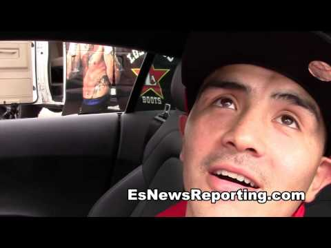 brandon rios takes a fan with him to his fight in vegas EsNews
