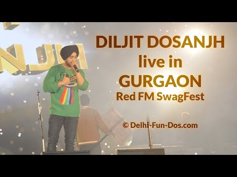 Diljit Dosanjh live in Gurgaon #SwagFest by RedFM