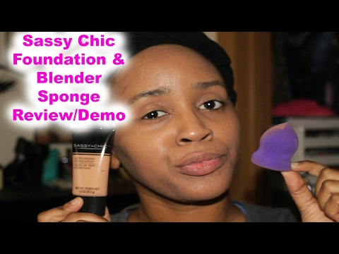 Dollar Tree Product Review/Sassy Chic Foundation & Sponge!