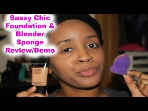 Dollar Tree Product Review/Sassy Chic Foundation & Sponge!