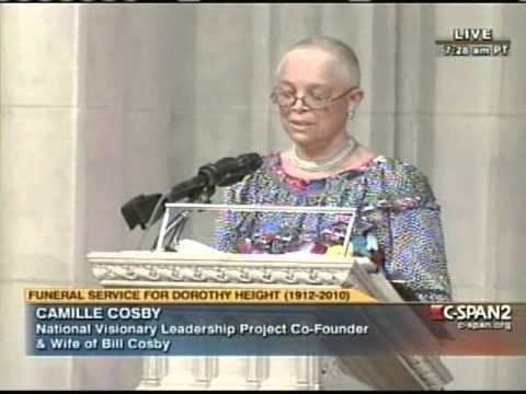 CAMILLE COSBY  EULOGIZES DR. DOROTHY HEIGHT