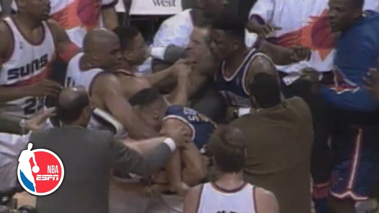 Knicks vs. Suns '93 brawl leads to six ejections, NBA rules overhaul   ESPN Archives