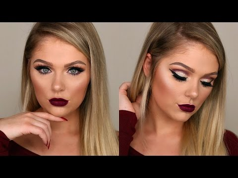 GLAM GOLD GLITTER SMOKEY EYE MAKEUP TUTORIAL 2017