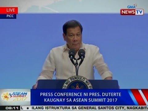 NTVL: Press conference ni Pres. Duterte kaugnay sa ASEAN Summit 2017