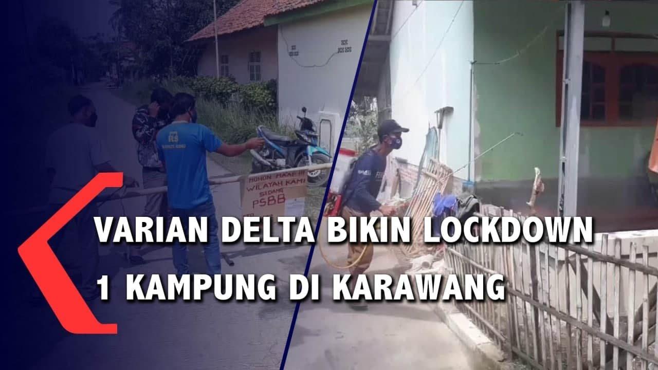 Download Varian Delta Bikin Lockdown 1 Kampung di Karawang