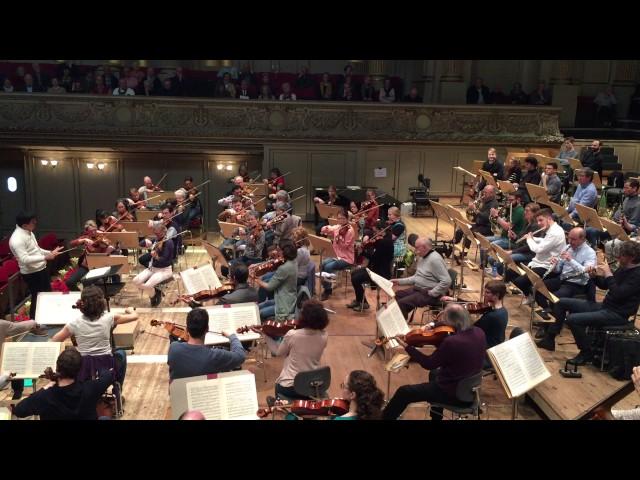 Dvorak 7th, 3.Scherzo. Tonhalle Orchester, David Zinman conducting Masterclass