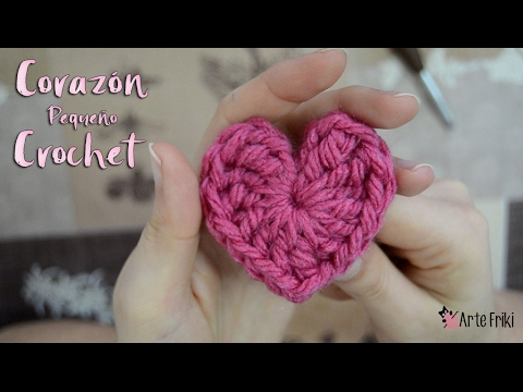 Corazon Crochet Pequeño [TUTORIAL] - YouTube