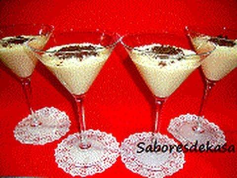 Copas de crema de coco