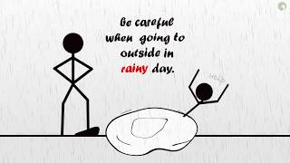 Be careful when going to outside in Rainy Day [Creative work]