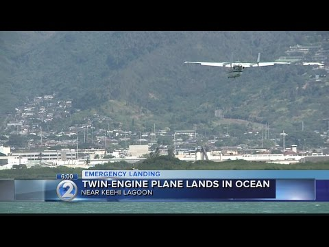 Pilot okay after small plane lands in ocean off Honolulu