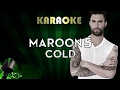Maroon 5 Cold LOWER Key Karaoke Instrumental Lyrics ft. Future