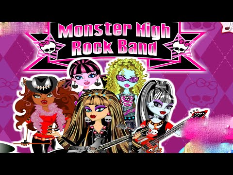 Monster High Rock Band Draculaura Clawdeen Cleo Lagoona and Frankie Dress Up Game for Girls