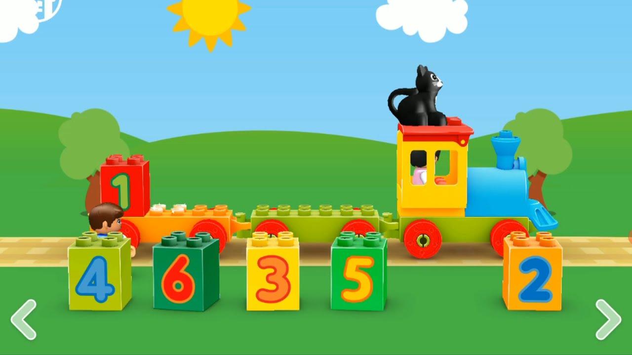 MUNDO LEGO DUPLO. TRENZINHO DOS NÚMEROS. Jogo infantil educativo.