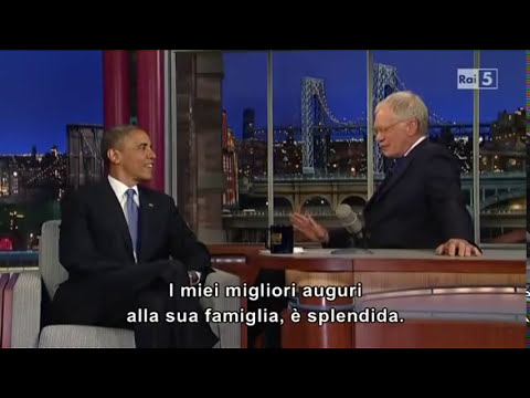 David Letterman - Barack Obama (sub ITA)