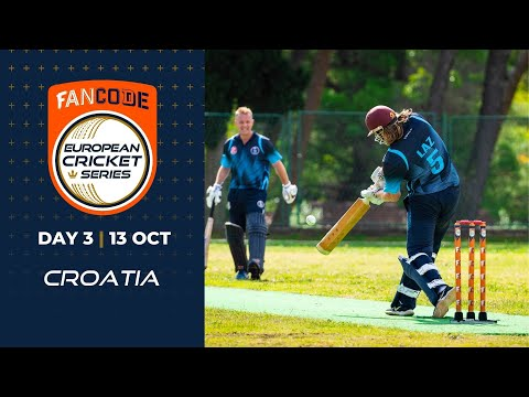 🔴 FanCode European Cricket Series Croatia, Day 3 | T10 Live Cricket