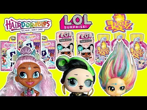 LOL Surprise Dolls VS Hairdorables Series 2 VS Hair Dooz! | Doll Challenge Video | LOL Hair Goals