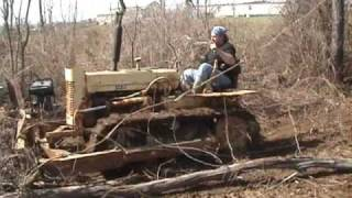 Cleaning up the woods with the bulldozer