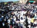 marcha arenera en santiago Texacuangos en el cierre de la campania 2012-2015.