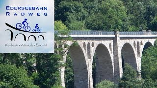 Radtour🚲🚲Ederseebahn-Radweg von Korbach bis zum Edersee 37 km