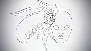 How To Draw A Venetian Mask (Part 1) -- iCanHazDraw!