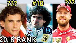 Top 10 Formula 1 Racing Drivers Of All Time | 2018