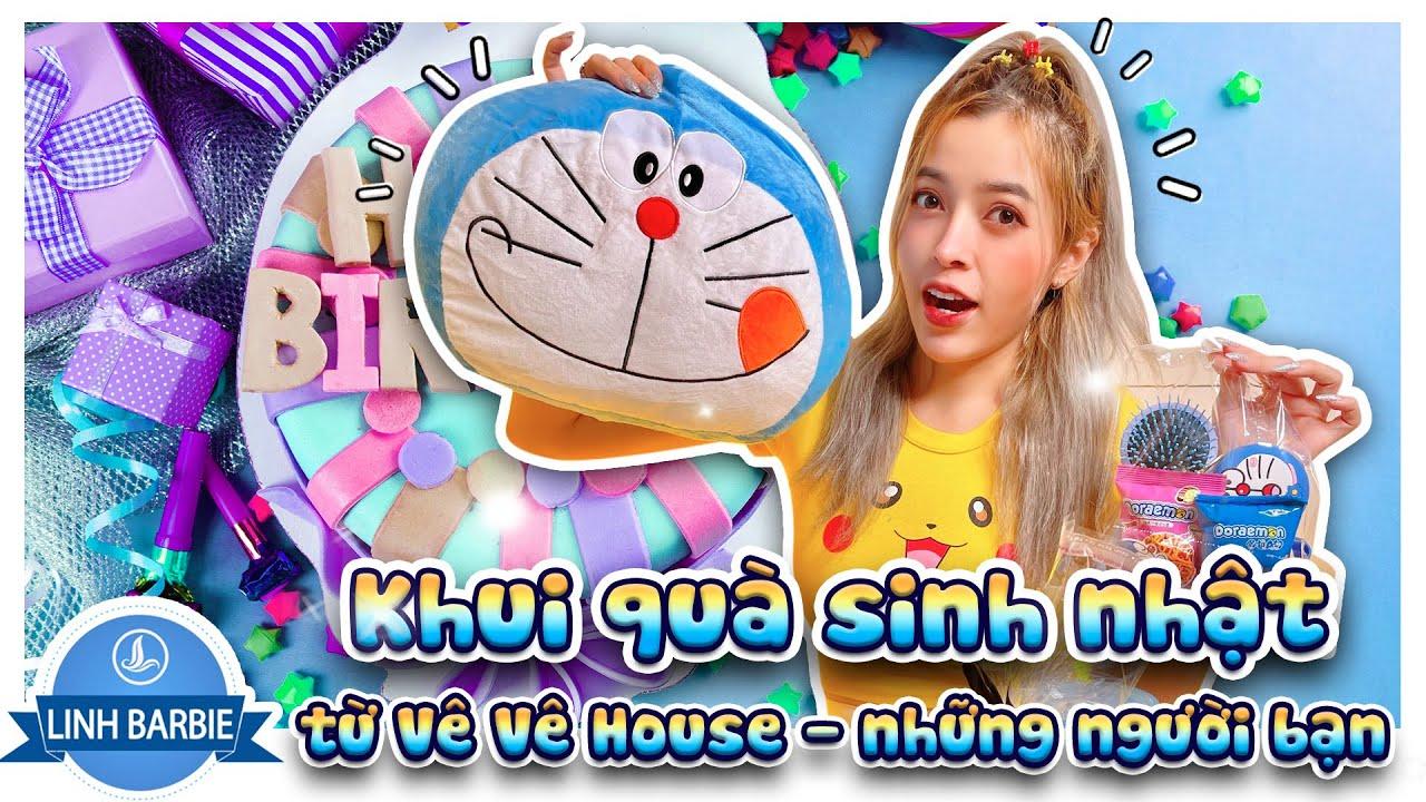 Khui Quà Sinh Nhật Từ Vê Vê House Và Những Người Bạn I Linh Barbie Vlog
