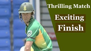 South Africa Vs West Indies 5th odi 2010 | Thrilling match