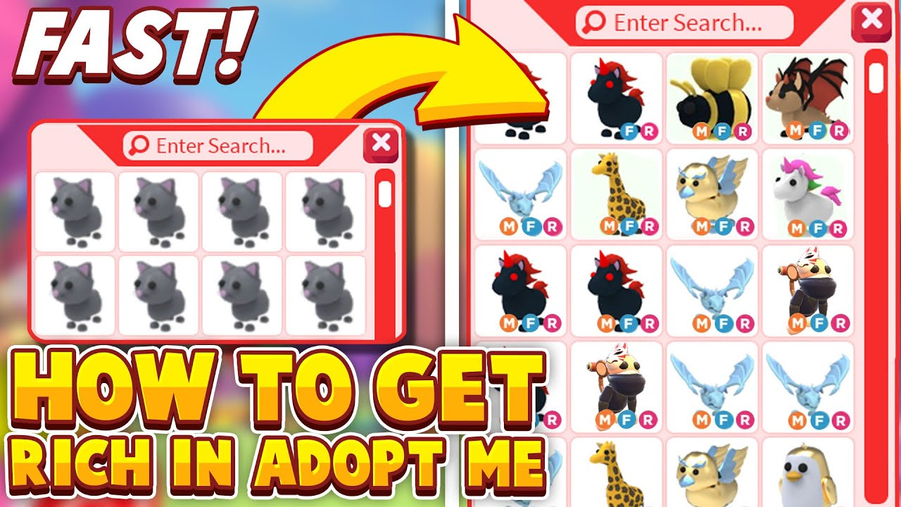 Roblox Adopt Me Pets Tekenen How To Get Rich In Adopt Me 2020