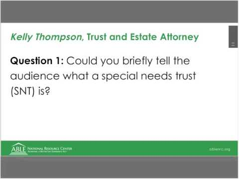 WEBINAR: ABLE Accounts, Trusts, Financial and Benefits Planning