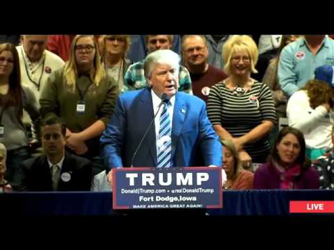 LIVE Donald Trump Fort Dodge Iowa Rally at Iowa Central Community College