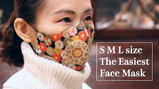 3 Layer Mask Really Can Make Easily 2 Sides Face Mask SML All Size Sewing Tutorial