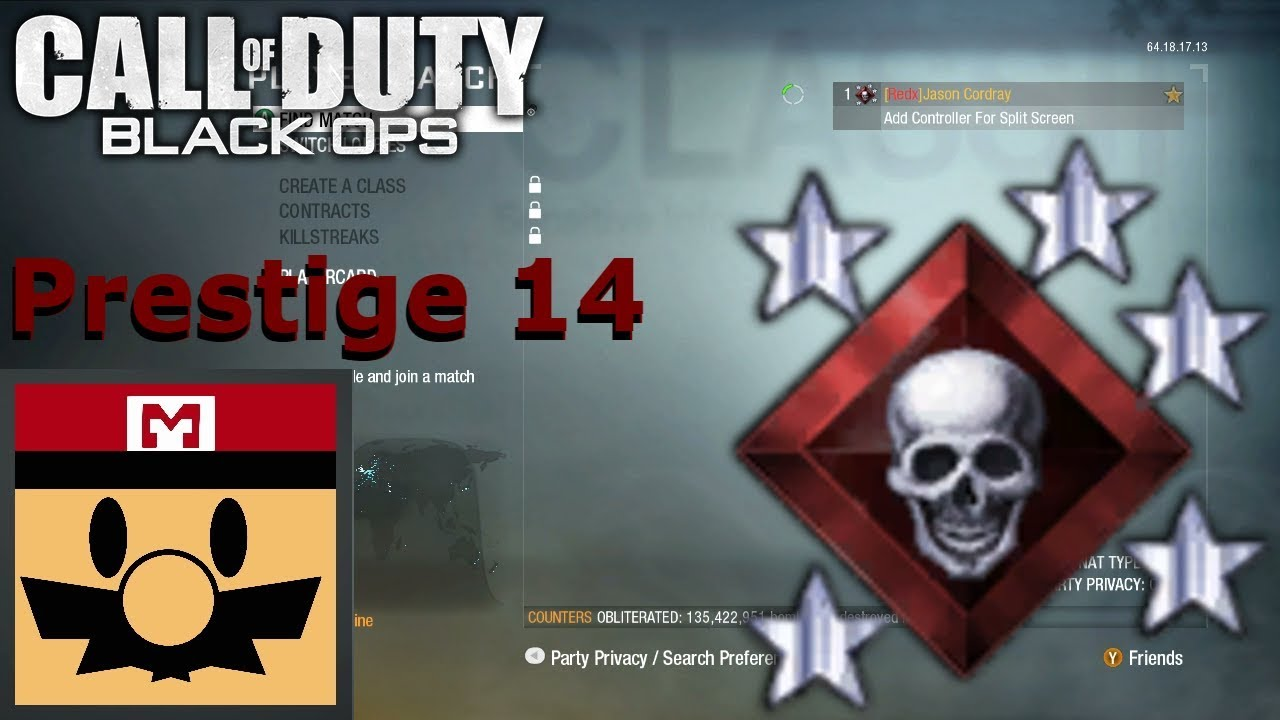 14th prestige black ops
