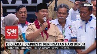 """Prabowo: """"10 Tuntutan Buruh adalah Tanggung Jawab Saya Sebagai..."""" Pidato Prabowo di May Day 2018"""