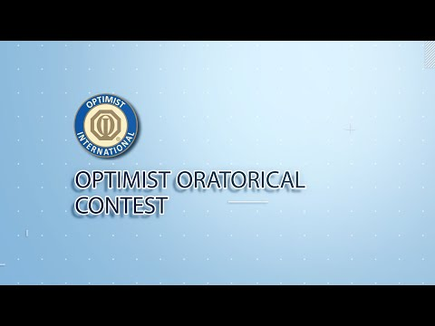 The Optimist Oratorical Competition - May 8, 5:30-6:30pm