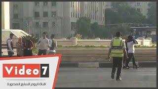 قوات الأمن تحيط بميدان التحرير لتأمين النصب التذكارى