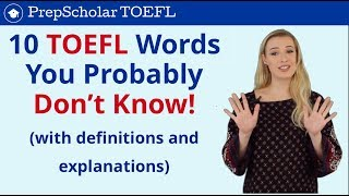 English Vocab | 10 TOEFL Words You Probably Don't Know