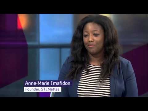 Head Stemette Anne-Marie Imafidon on Channel 4 News - YouTube