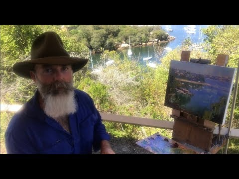 Painting a Tranquil Little Cove on Sydney Harbour!