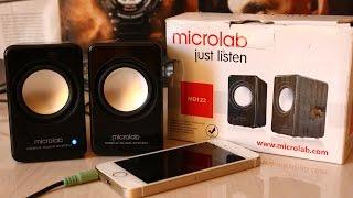 Портативные колонки Microlab MD122 - обзор